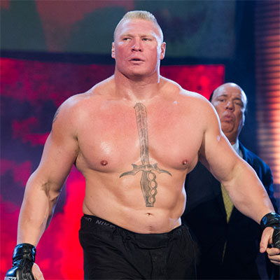 How much can Brock Lesnar Bench Press?