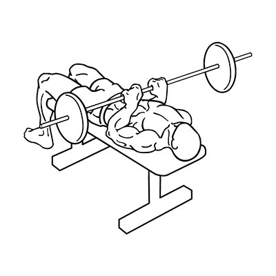 What does close grip bench press work?