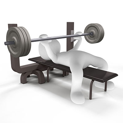 How heavy is a bench press bar?